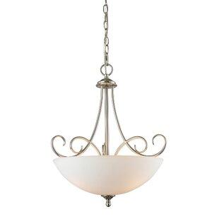 Fleur De Lis Living Pearlie 3-Light Bowl Pendant
