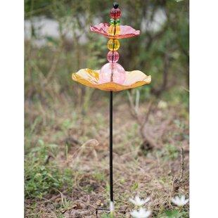 Sunjoy Garden Decorative Tray Bird Feeder