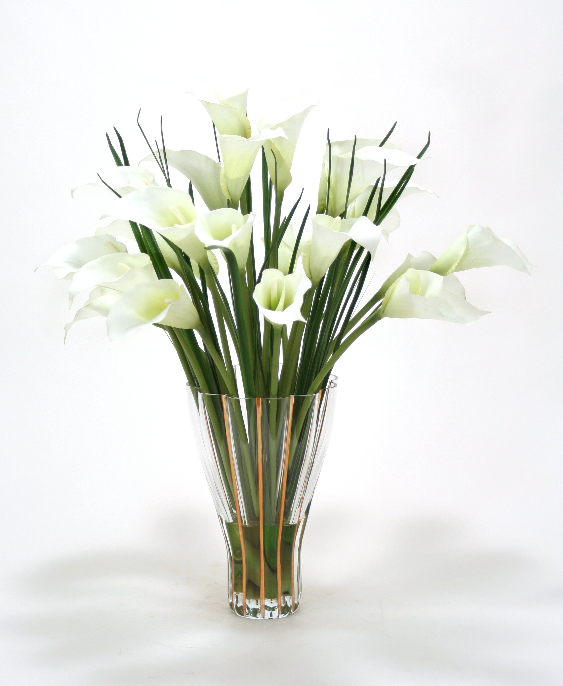 Distinctive designs white calla lilies in tall fluted vase distinctive designs white calla lilies in tall fluted vase reviews wayfair reviewsmspy