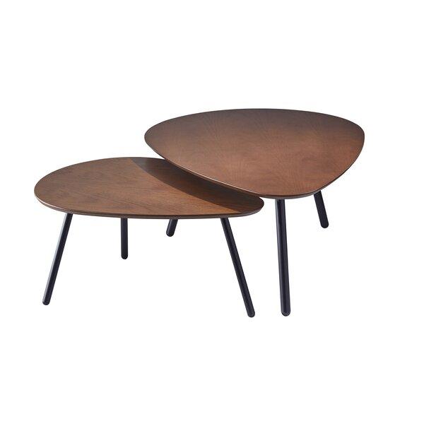 Hana Nesting 2 Piece Coffee Table Set Reviews Allmodern