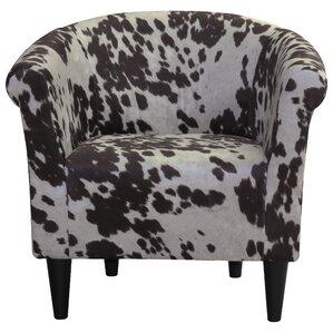 Denmark Cowhide Barrel Chair