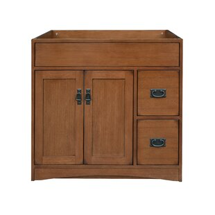 Mission Oak 36 Single Bathroom Vanity Base Only By Sunnywood
