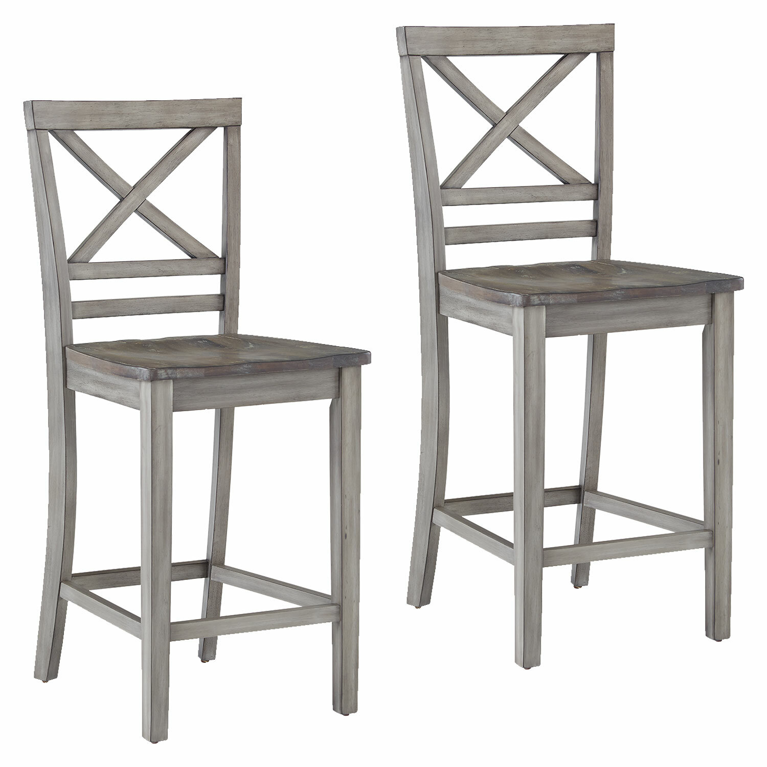 One Allium Way Duplessis Distressed Counter Height Bar Stool ...