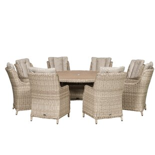 Hermina 8 Seater Dining Set With Cushions By Sol 72 Outdoor