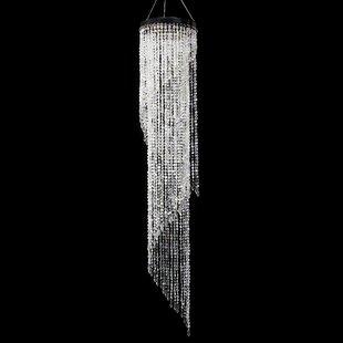 Bergin Iridescent Diamond Cut Beaded Spir..