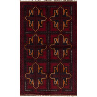 Great choice One-of-a-Kind Alanna Hand-Knotted Wool Red/Black/Orange Area Rug By Isabelline