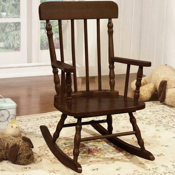 Harriet Bee Della Kidu0027s Solid Pine Wood Rocking Chair   Wayfair