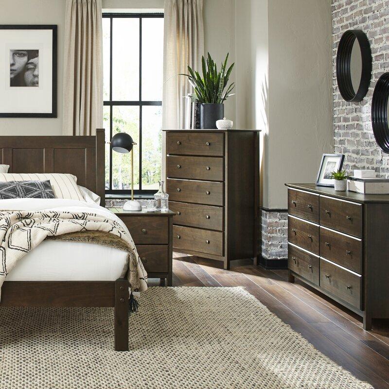 Grain Wood Furniture Shaker 5 Drawer Standard Dresser Reviews Wayfair