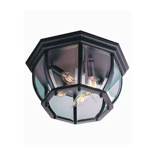 Order Oakhill 4-Light Outdoor Flush Mount By Charlton Home