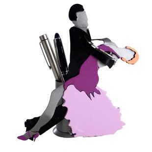 H & K SCULPTURES Ballroom Dancers Pen Holder