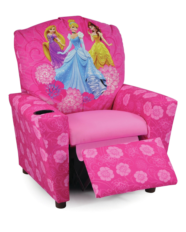 Bon KidzWorld Disney Princesses Kids Recliner With Cup Holder U0026 Reviews |  Wayfair