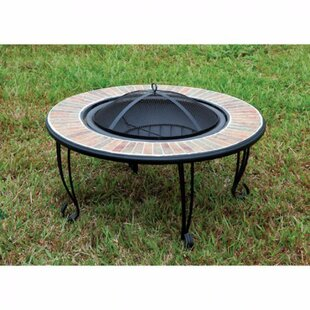 Benzara Banno Cast Iron Fire Pit Table