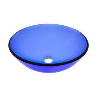 Affordable Glass Circular Vessel Bathroom Sink By Novatto