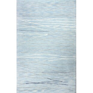 Luczak Hand Tufted Light Blue Area Rug