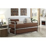 De Soto Transitional Metal Twin Daybed with Trundle by 17 Stories