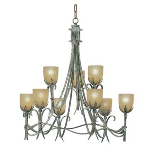 Zanin Lighting Inc. Latina 9-Light Shaded Chandelier