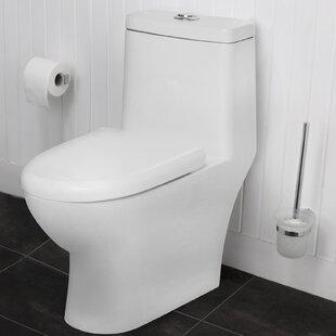 Maykke Eilt Dual-Flush Elongated One-Piece T..