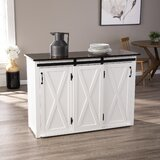 Leshire Barn-Door Kitchen Island by August Grove®