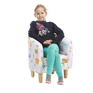 Fine Animal Camp Winter Trek Children's Club Chair By Zoomie Kids