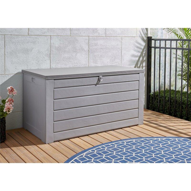 Cosco Home and Office 180 Gallon Plastic Deck Box  Color: Gray