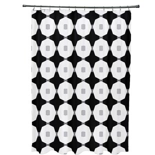 Waller Button Up Geometric Single Shower Curtain
