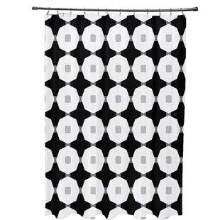 Waller Button Up Geometric Single Shower Curtain