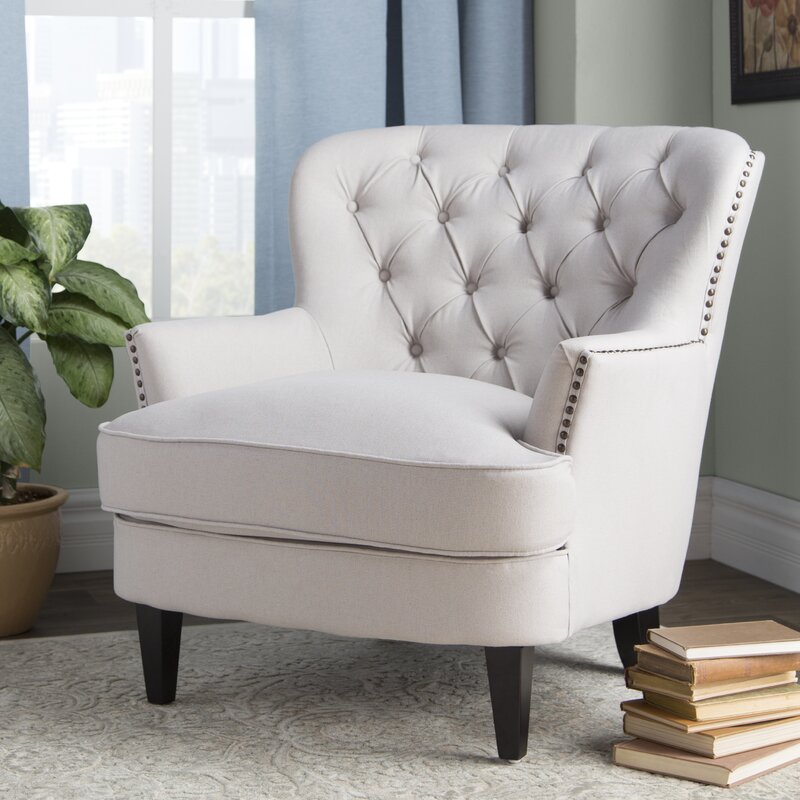 tufted accent club chair