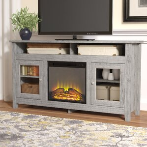 Isabel Highboy 58  TV Stand with FireplaceFireplace TV Stands   Entertainment Centers You ll Love   Wayfair. Tv Stand For Fireplace Mantel. Home Design Ideas