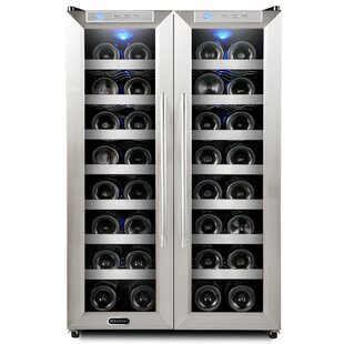Whynter 32 Bottle Dual Zone Freestanding Wine Cooler