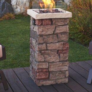 Real Flame Sedona Concrete Propane Fire C..