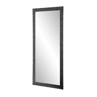 BrandtWorksLLC Clouded Gunmetal Leaning Wall Mirror Size: 71 H x 32 W x 0.75 D