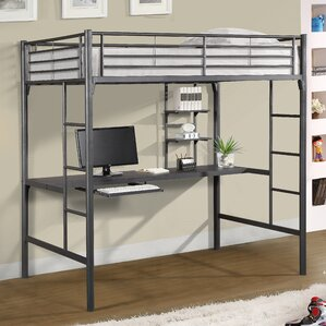 bunk bed with office underneath. jose twin loft bed with workstation bunk office underneath s