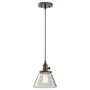 Reviews Antioch 1-Light Cone Pendant By Three Posts