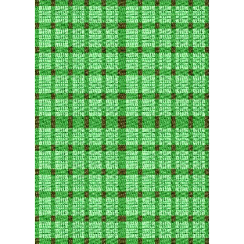 East Urban Home Pettitt Plaid Wool Green Area Rug Wayfair