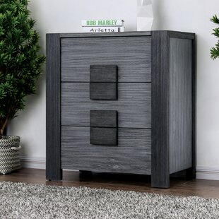 Beaupre 3 Drawer Nightstand