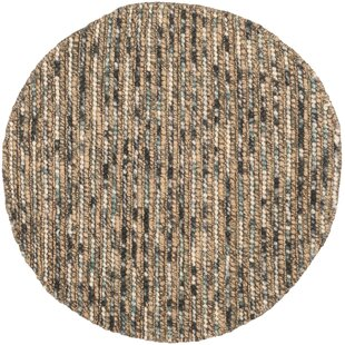 Stefanie Hand-Knotted Wool/Cotton Brown Area Rug by Langley Street