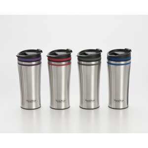 Double Walled Stainless Steel Coffee Tumbler with Silicone Rings