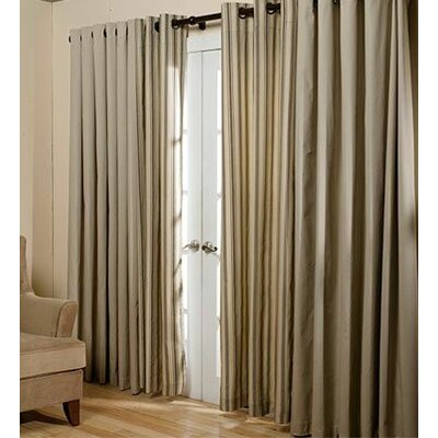 ThermalogicTM Energy Efficient Insulated Solid Semi Sheer Thermal Tap Top Curtain Panel