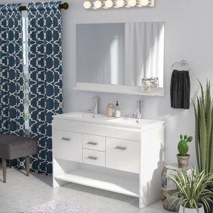 Frausto 47 Double Bathroom Vanity Set with Mirror by Brayden Studio