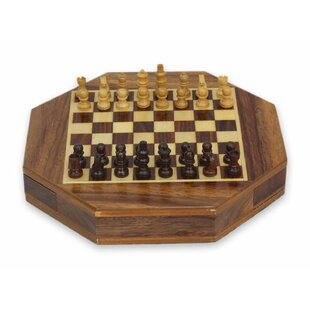 Traveling Challenge Wood Chess Set  sc 1 st  Wayfair & Chess Board Table | Wayfair