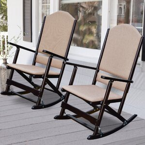 Cedar Creek Solid Wood Folding Rocking Chairs (Set of 2) by Wildon Home ?