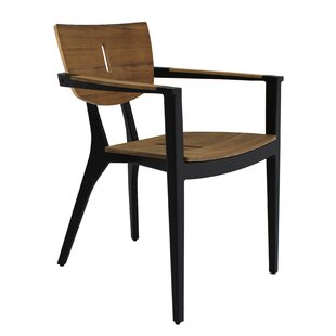 Online Purchase Diuna Stacking Teak Patio Dining Chair Best reviews