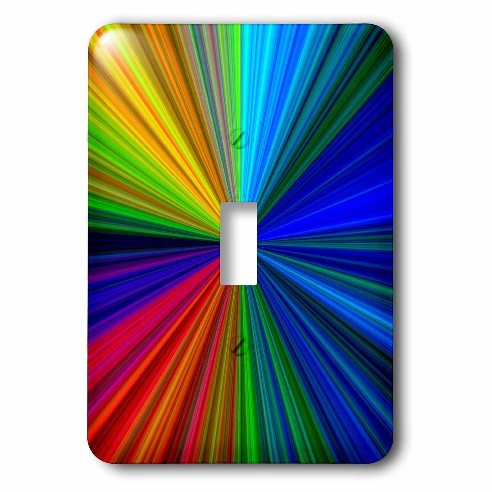 3drose Rainbow 1 Gang Toggle Light Switch Wall Plate Wayfair