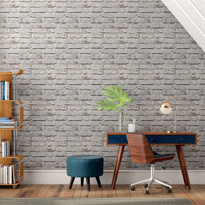 Mccluney 33 L X 20 5 W Brick Wallpaper Roll