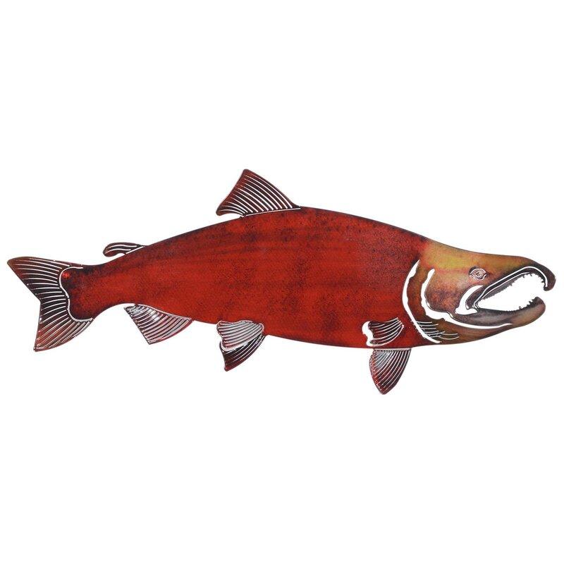 3D Large Soc Salmon Wall Décor