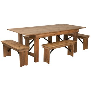 Pitre Rustic 5 Piece Dining Set by Gracie..