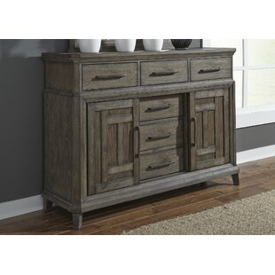Grigg 6 Drawer Combo Dresser with Mirror