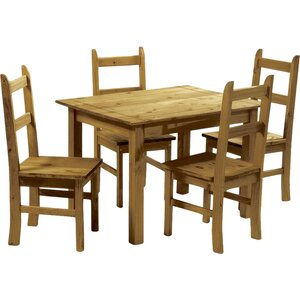 equador dining set with 4 chairs - Rustic Dining Set