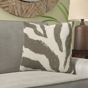 Frey Zebra Screen Print Linen Throw Pillow