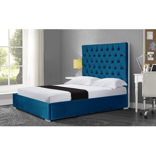 Wallis Velvet Queen Upholstered Platform Bed